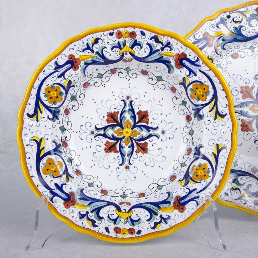 Set 3 TABLE DISHES RICCO DERUTA  sc 1 st  Assisi & Set 3 TABLE DISHES RICCO DERUTA - Michelangelo Art and Craft - Assisi