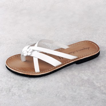 SANDAL VACCHETTA WHITE MICRO BOTTOM