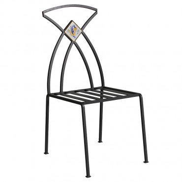 CHAIR GIUNONE WITH CERAMIC INSERT