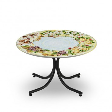CIRCULAR TABLE, FOUR SEASON, METAL SUPPORT