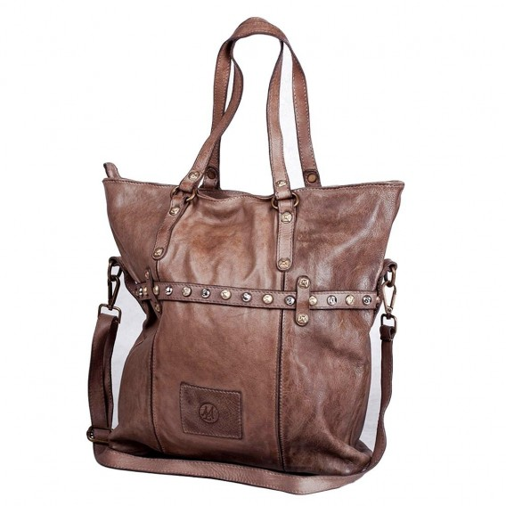 BIG BAG WITH BELT SOFT LEATHER
