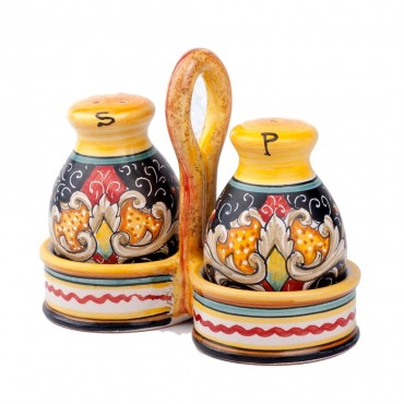 SALT / PEPPER WITH BASKET NEW
