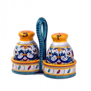 SALT / PEPPER WITH BASKET RICCO DERUTA