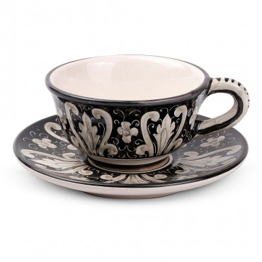 TEA CUP WITH SAUCER C2 NERO