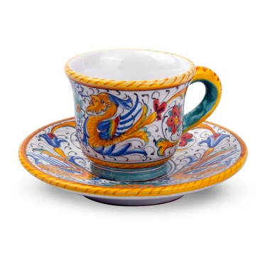 COFFEE CUP 'WITH SAUCER RAFFAELLESCO