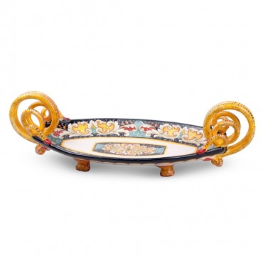 CENTER TABLE BOAT SNAKE HANDLES L 50 cm