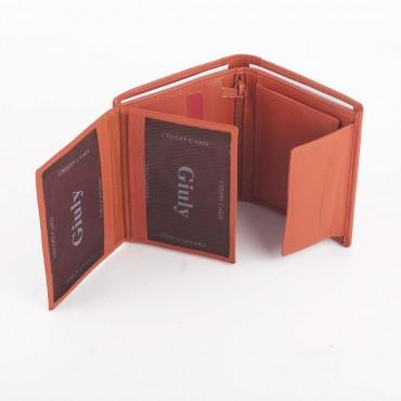 PORTAFOGLIO UNISEX GIULY IN PELLE 2X8.5 H10.5 cm
