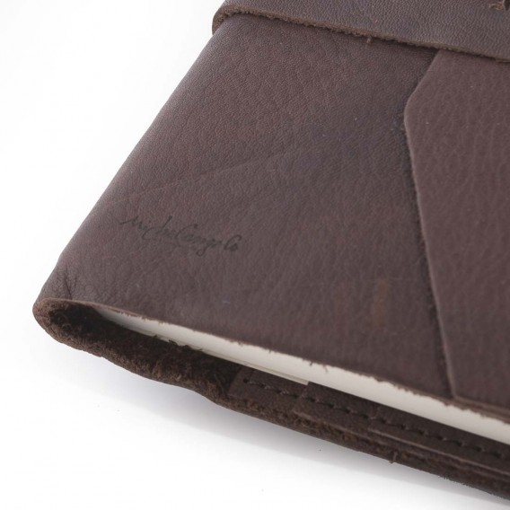 ATHENS JOURNALS IN LEATHER 3x13 H18.5 cm, Inch 1.18X5.11 H7.28