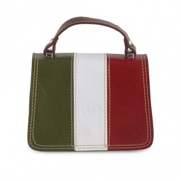 Small Italy Bag in Leather 10x17.5 H20 cm