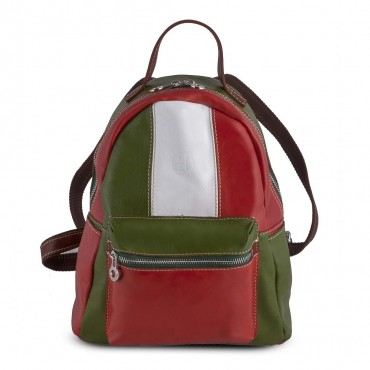 ITALY BACKPACK IN LEATHER 20x26 H31 cm