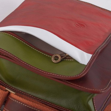 MESSANGER ITALY BAG IN LEATHER 10x32 H29 cm
