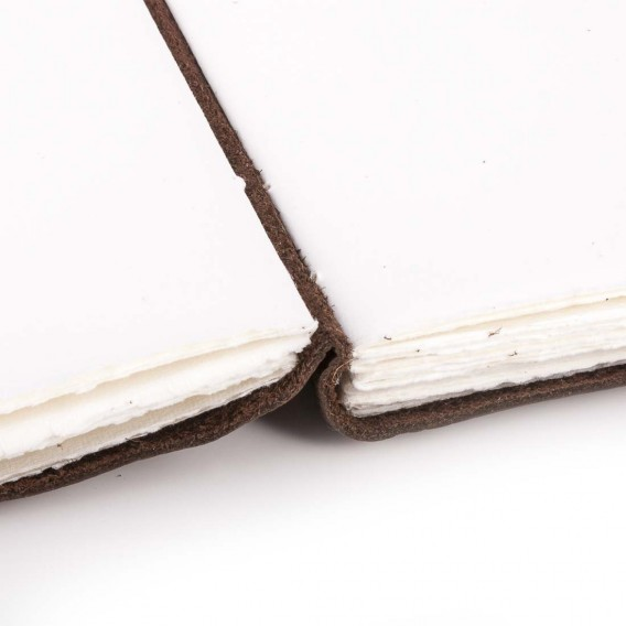 POMPEI JOURNAL IN LEATHER 4x13 H18.5 cm, Inch 1.57X5.11 H7.28