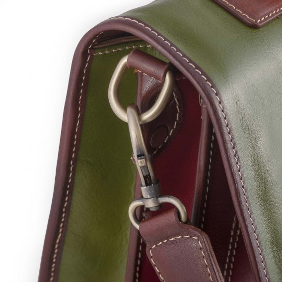 BUSINESS ITALY BRIEFCASE IN LEATHER 12x38 H29 cm