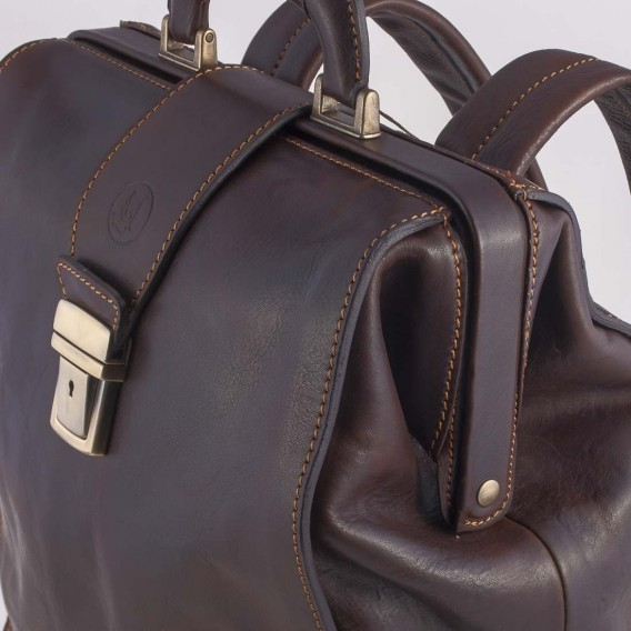 CALIFORNIA BAG IN LEATHER 20x31 H43 cm