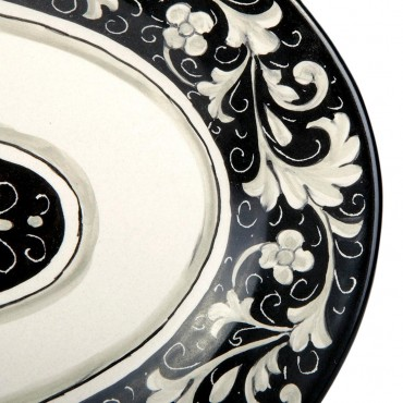 OVAL TRAY C2 NERO