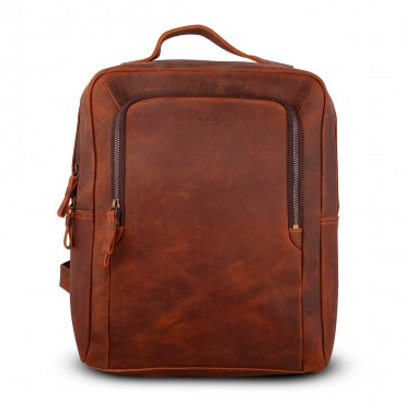 OLIMPIA BACKPACK IN VINTAGE LEATHER 34x11.5 H41 cm