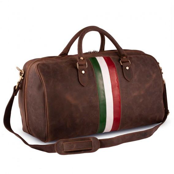 LEPANTO TRAVEL BAG IN VINTAGE LEATHER 55x28 H31 cm