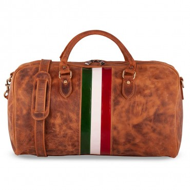LEPANTO TRAVEL BAG IN VINTAGE LEATHER 55x28 H31 cm