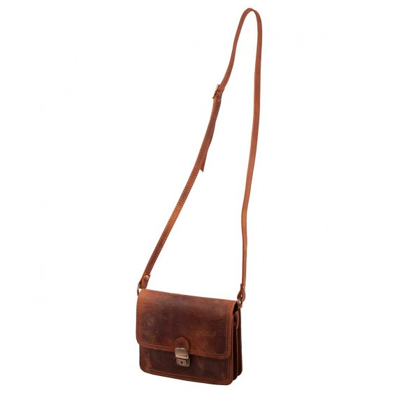 OLIMPIA WOMAN SHOULDER BAG 2 COMPARTMENTS IN VINTAGE 20x5.5 H17 cm