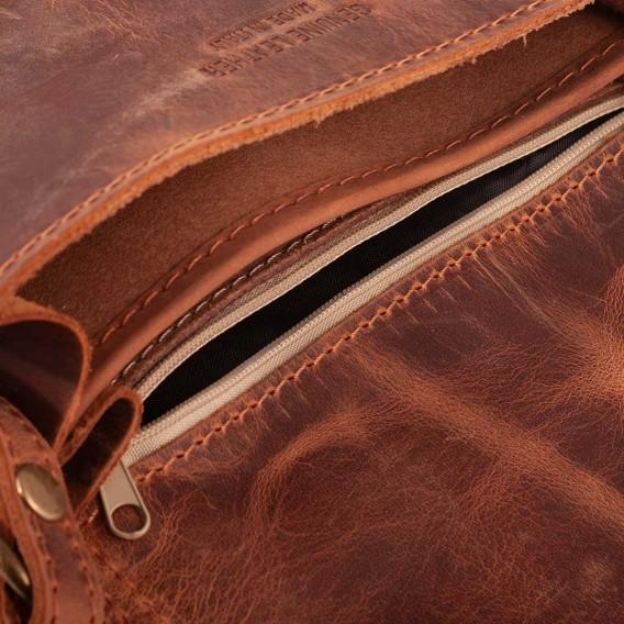 BORSA TRACOLLA DONNA 2 SCOMPARTI OLIMPIA IN PELLE VINTAGE 20x5.5 H17 cm