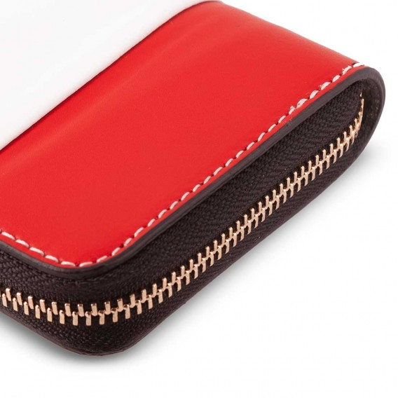 SMALL WOMAN WALLET IN LEATHER 2.5x10 H13.5 cm