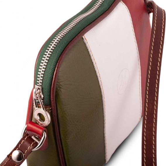SMALL SHOULDER BAG 1 COMPARTMENT IN LEATHER 20x5.5 H16 cm