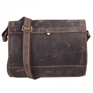MESSANGER BAG VALENCIA, BARK BROWN