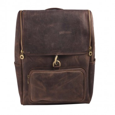 BACKPACK SANTIAGO, DARK BROWN